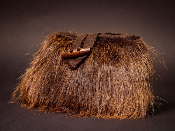 Handtasche Nutria, Größe S, Taschenöffnung 15 cm